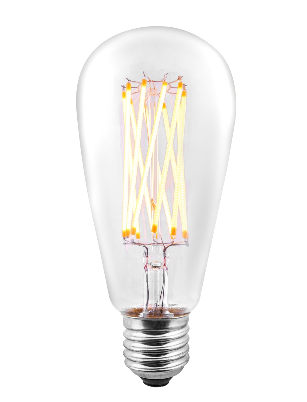 LED Antique X-Filament Bulb Edison Style ST64 8 Watt 75W Equivalent 2700K Vintage Warm White ...