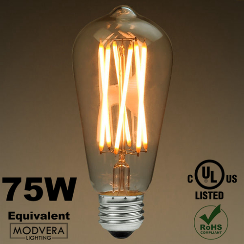 led antique x filament bulb edison style st64 8 watt 75w equivalent