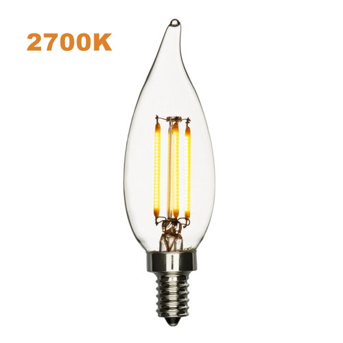 Led candelabra bulb 40w equivalent warm white 2700k dimmable bent led candelabra bulb 40w equivalent warm white 2700k dimmable bent tip aloadofball Choice Image