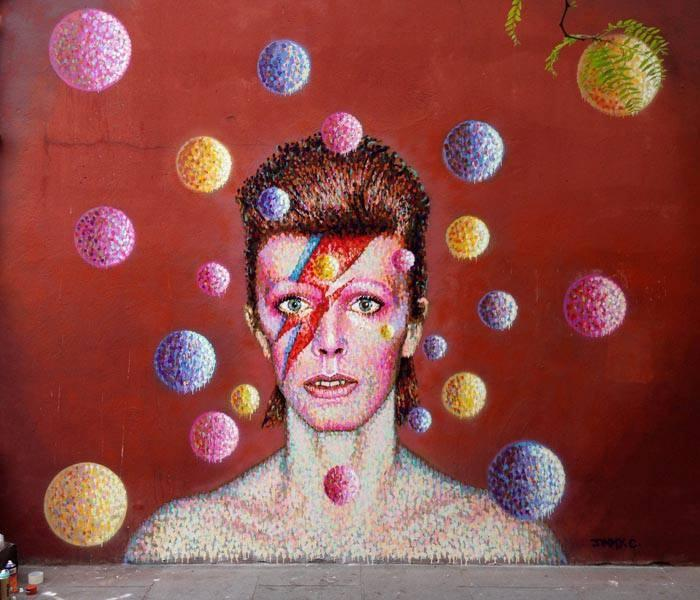 James Cochran , Bowie wall Brixton, England