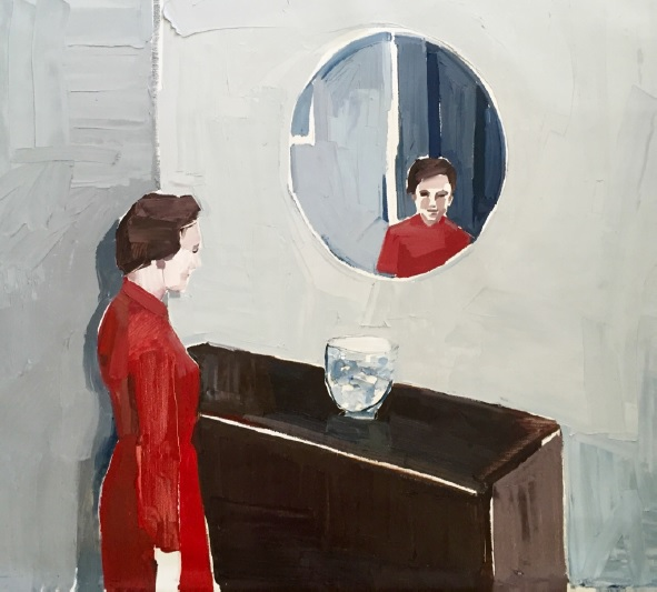 Clara Adolphs, Self Inside 87 x 77 cm, oil on linen