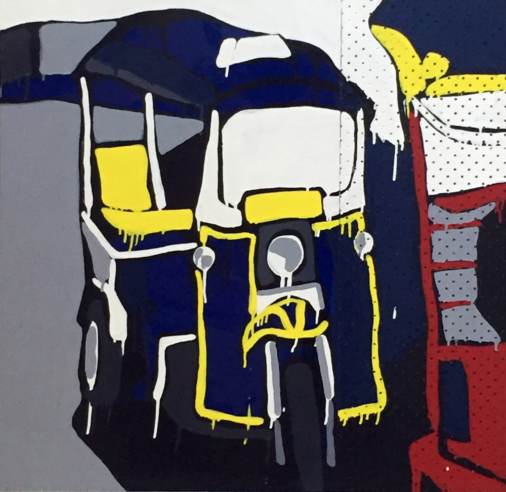 Jasper Knight, Tuk Tuk No. 2 90 x 90 cm, available