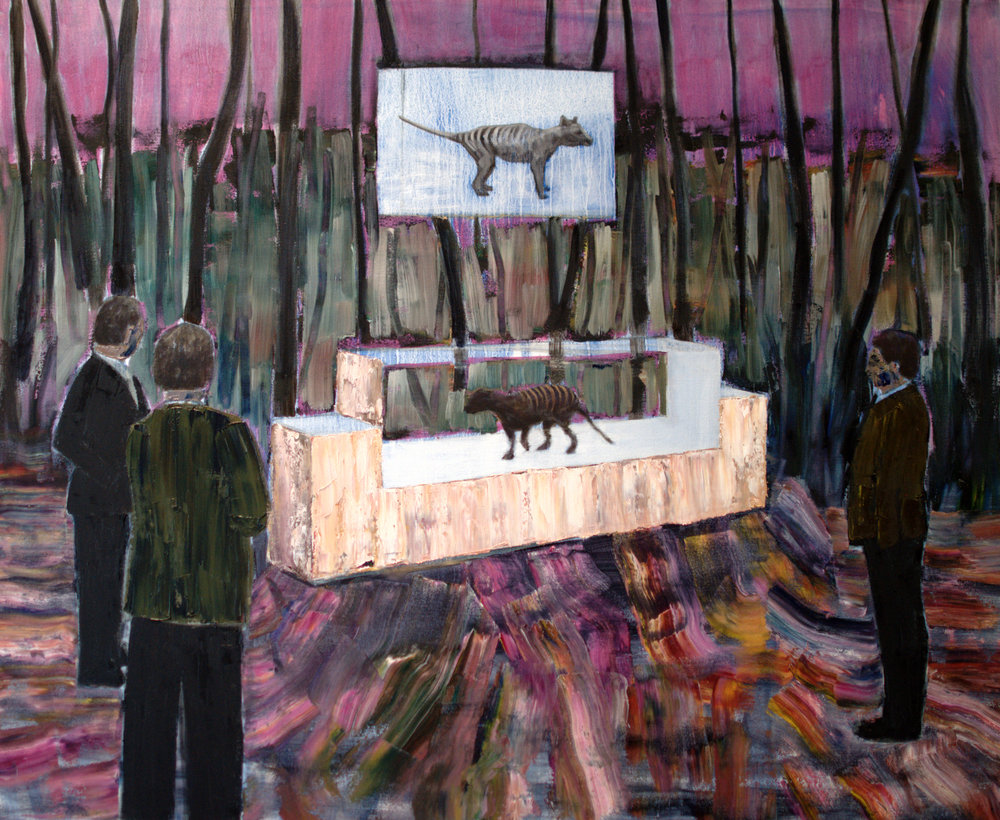 Sarah Gosling, Thylacine oil on canvas, 112 x 96 cm