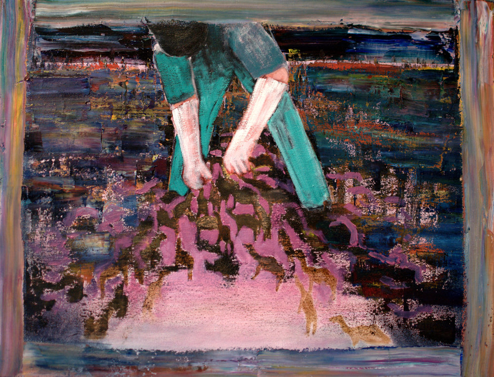 Sarah Gosling, Intervene oil on canvas, 66 x 51 cm, available
