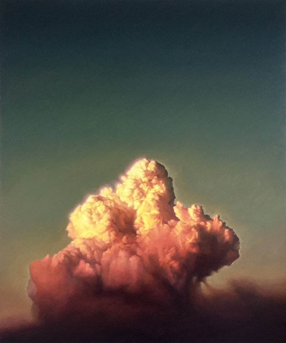 James Bonnici, Cloud at Sunset 3 oil on linen, 61 x 51 cm, available