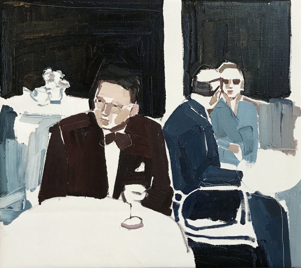 Clara Adolphs, Friday's Table 67 x 61 cm, oil on linen