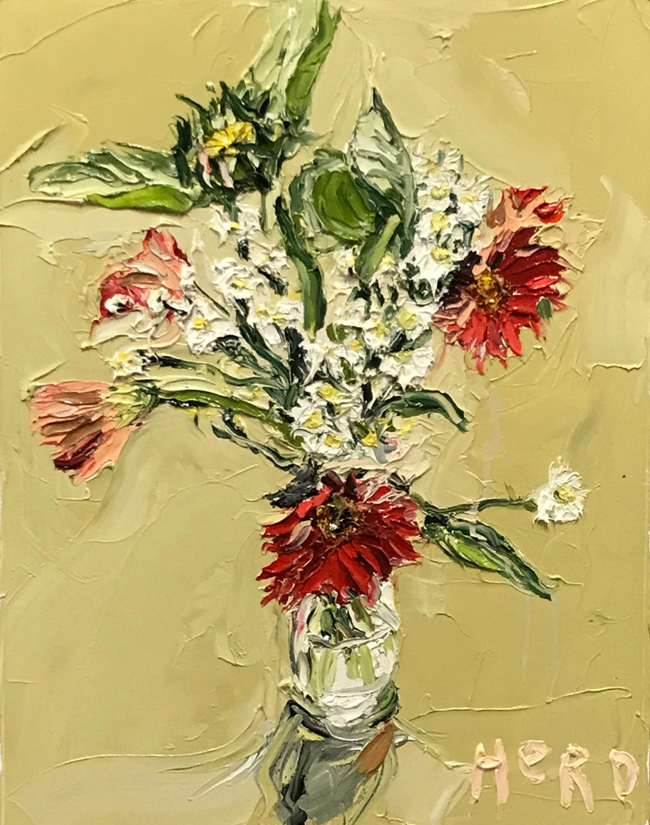 Nick Herd, Daisy Family oil on canvas, 46 x 60 cm, available