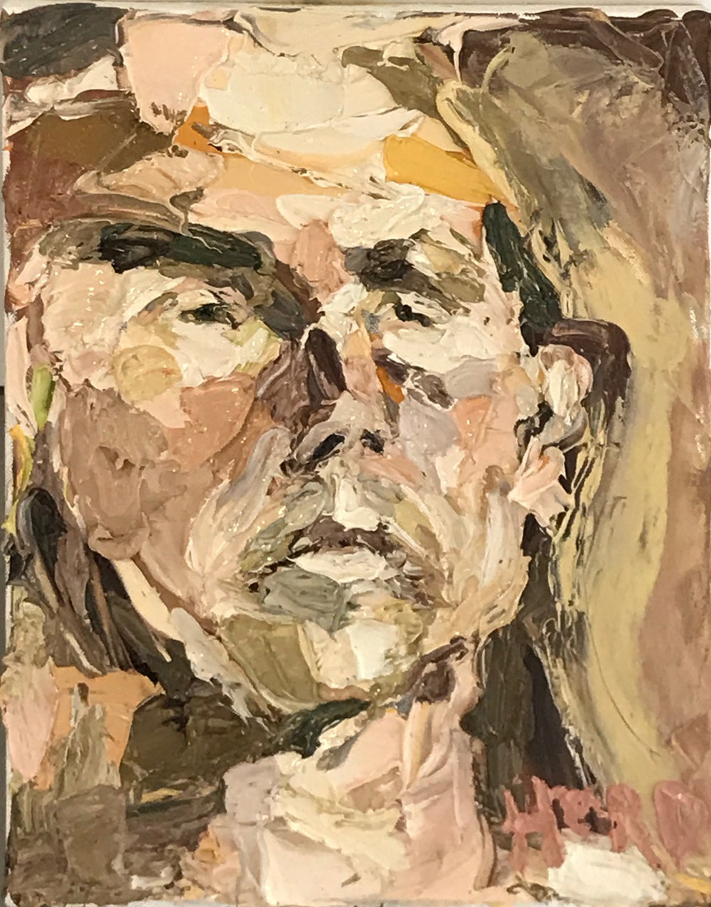 NIck Herd, Self Portrait II oil on canvas, 30 x 40 cm, available
