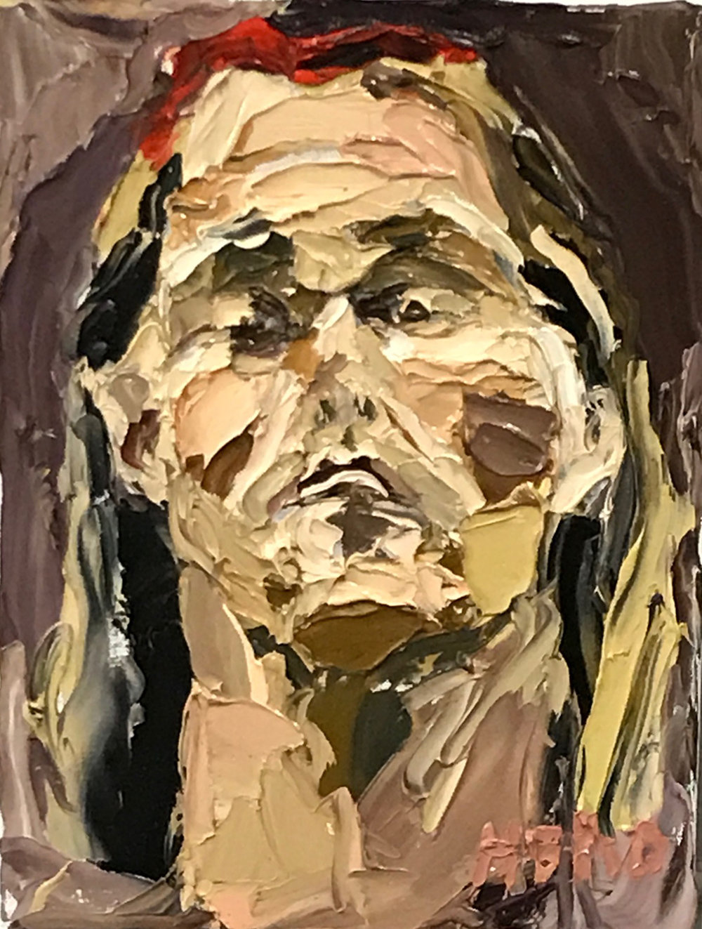 Nick Herd, Self Portrait III oil on canvas, 30 x 40 cm, available
