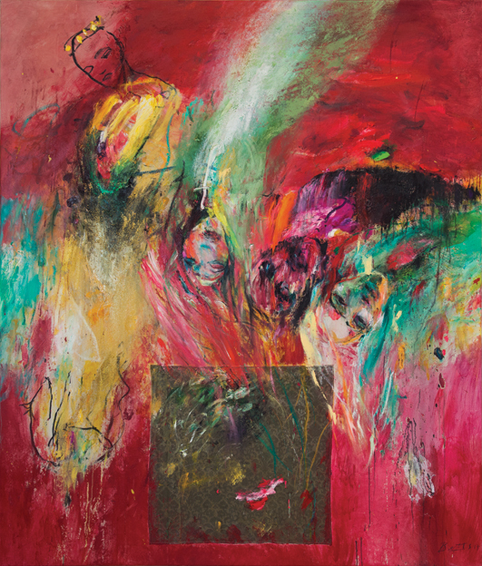 Heather Betts, Overthrown 170 x 200 cm, oil on canvas, available
