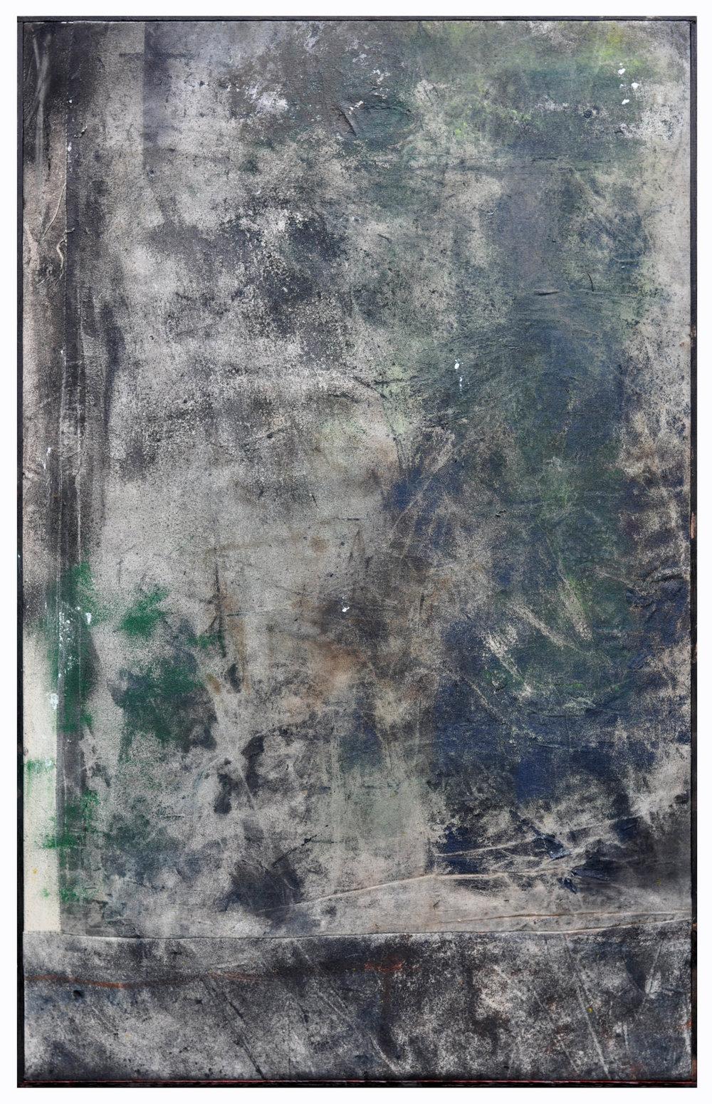 Ryan McGennisken, Everythings On Shortage 78 x 124 cm, spray paint, thred, on canvas, oak frame, available
