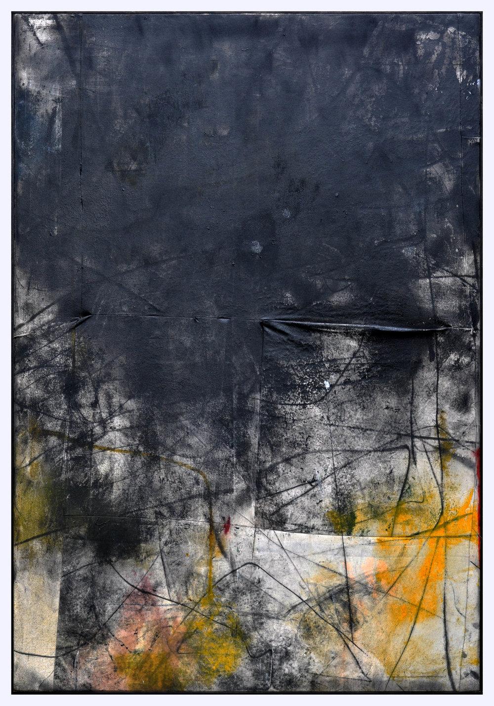 Ryan McGennisken, Nothin Aint Like Nothin 124 x 180 cm, spray paint, thred, on canvas, oak frame, available