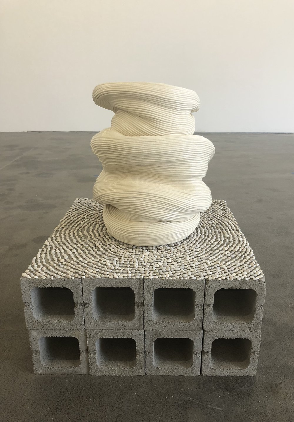 Zhu Ohmu, As Within, So WIthout Glazed Ceramics, 52 x 62 cm This work has been collected by the Australian Goverment via Artbank