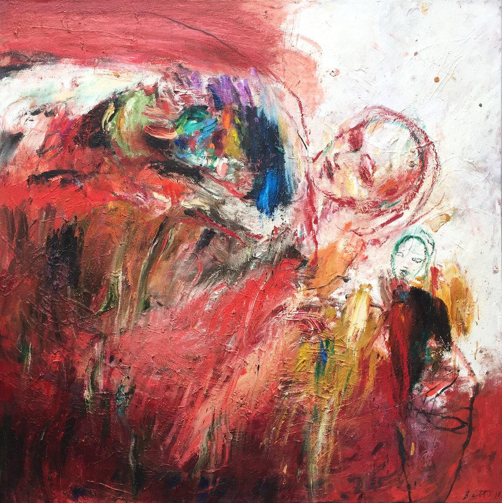 Heather Betts, Rare Risk oil on canvas, 120 x 120 cm, available
