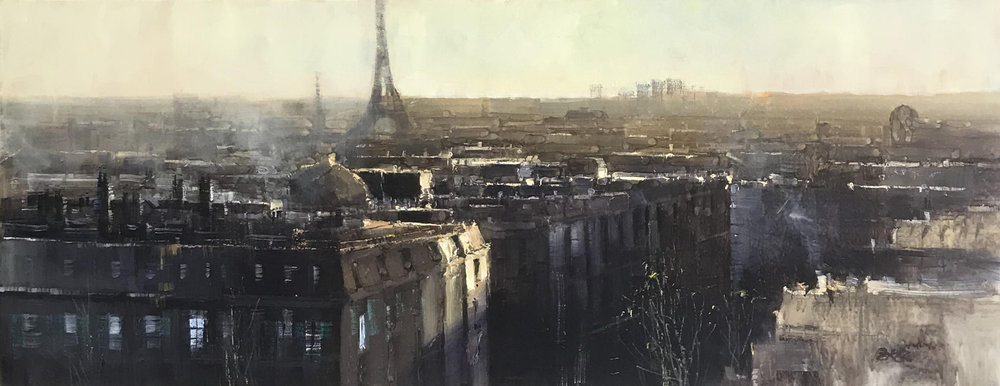 Herman Pekel, Paris oil on canvas, 168 x 66 cm, available