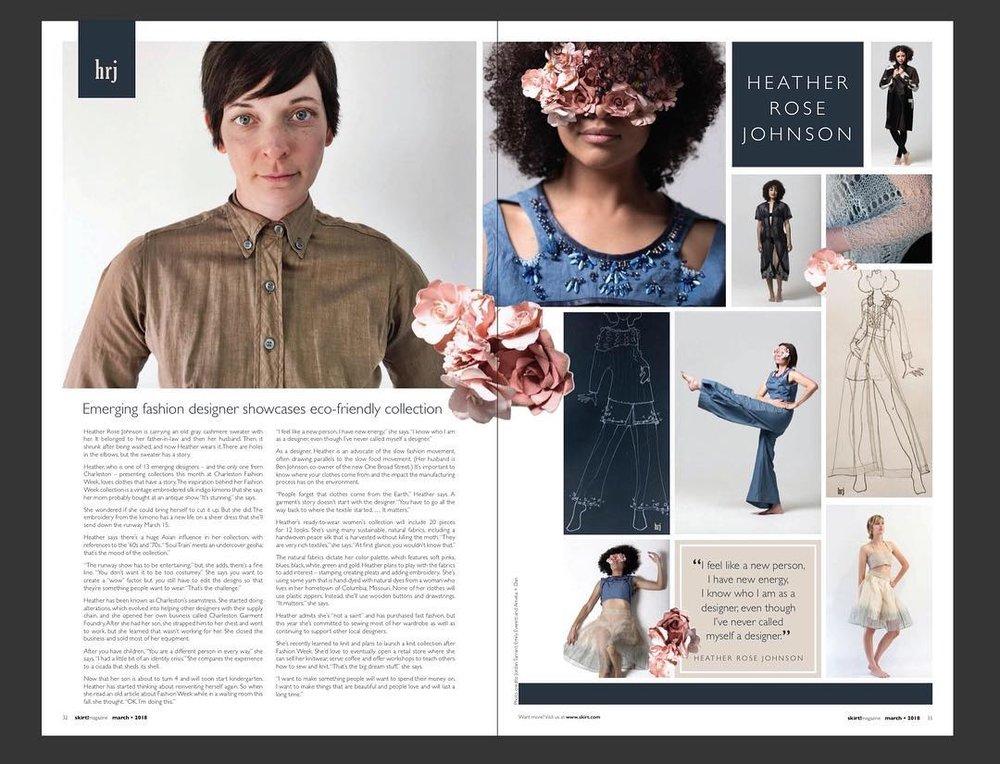 Skirt Magazine // Heather Rose Johnson 2017 (my work on the right)