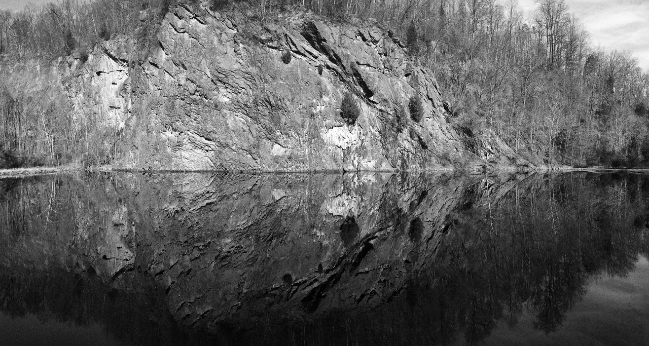 Birdsboro Rock Quarry, Pennsylvania.     Went rock climbing here. Forgot my camera battery. So I made do with what I have, my iPhone.