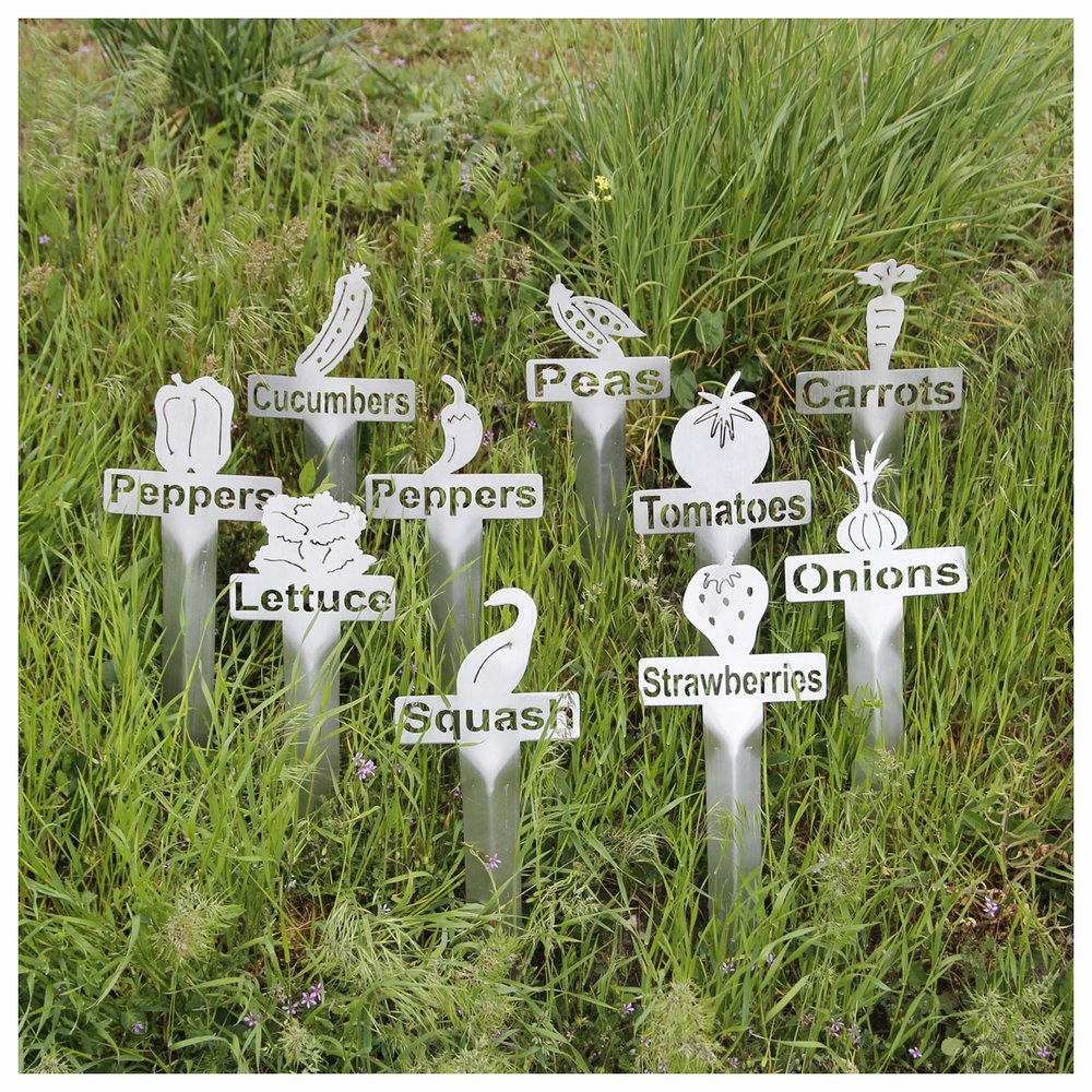 Perfect 10 Pack SS Garden Markers