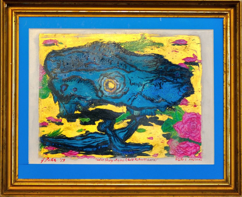 Color Study of Skull (Self-Portrait: CMYK), 2013