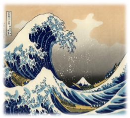 "Figure 1: "" The Great Wave off Kanagawa "" by Hokusai. Willem. The Great Wave off Kanagawa. 2011.  Woodblock Print . Word press. Web. 12 Nov 2011.."