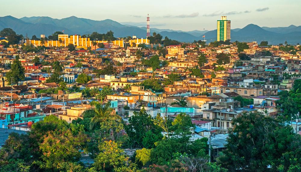 Santiago Skyline with the Moncada Barracks