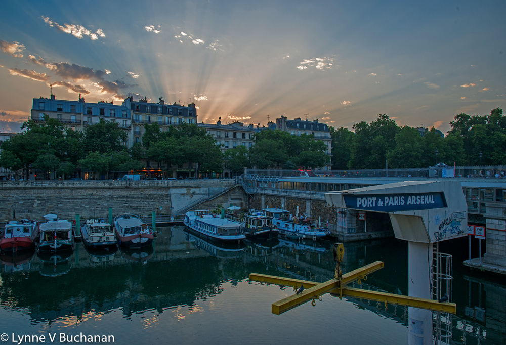 God Rays Over the Canal St. Martin