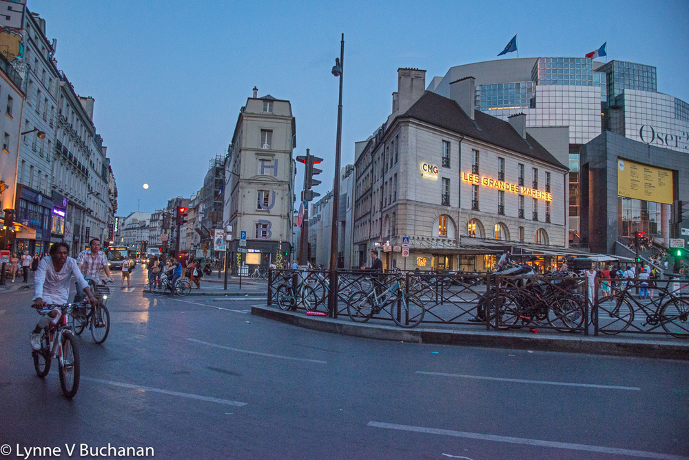 Place de la Bastille Under a Full Moon