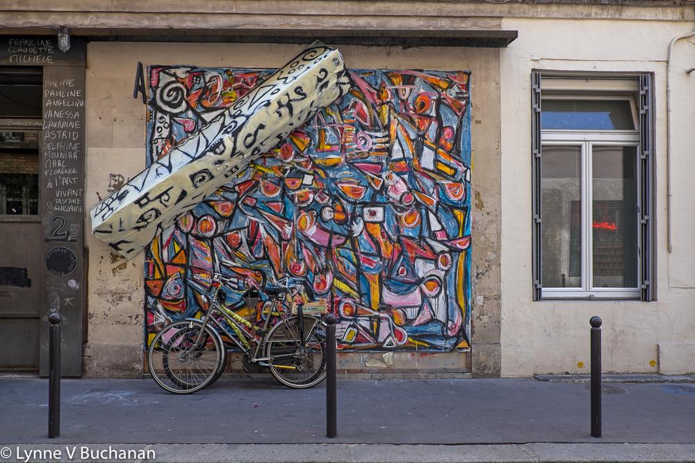 Parisian Sculptural Graffiti with Bicycles