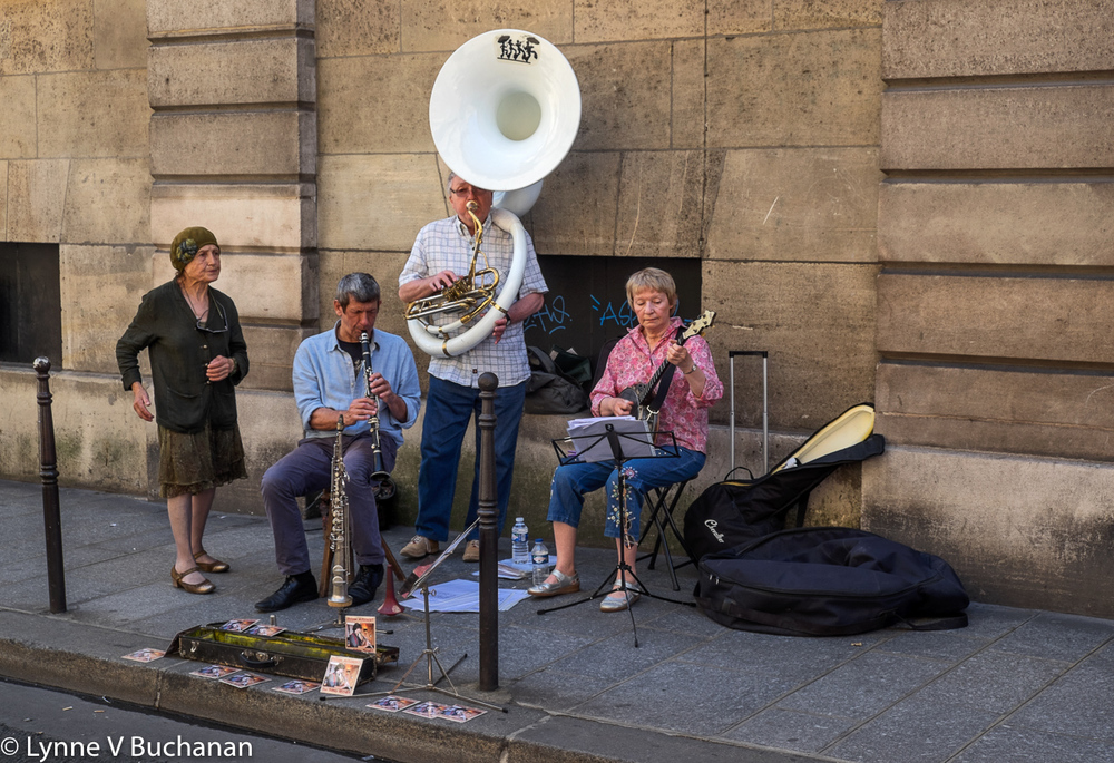 Old Time Street Band in Paris