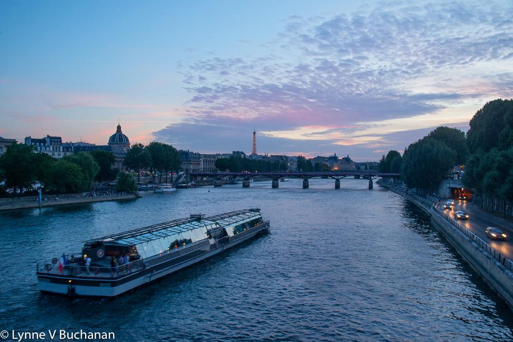 Sunset Along the Seine