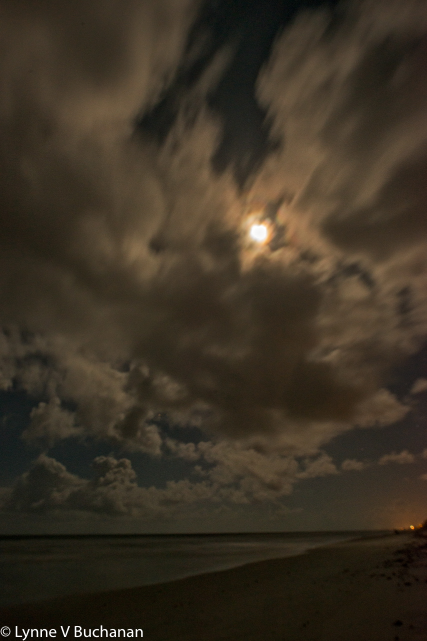 Clouds Forming Before the Midnight Storm the Night of a Full Moon