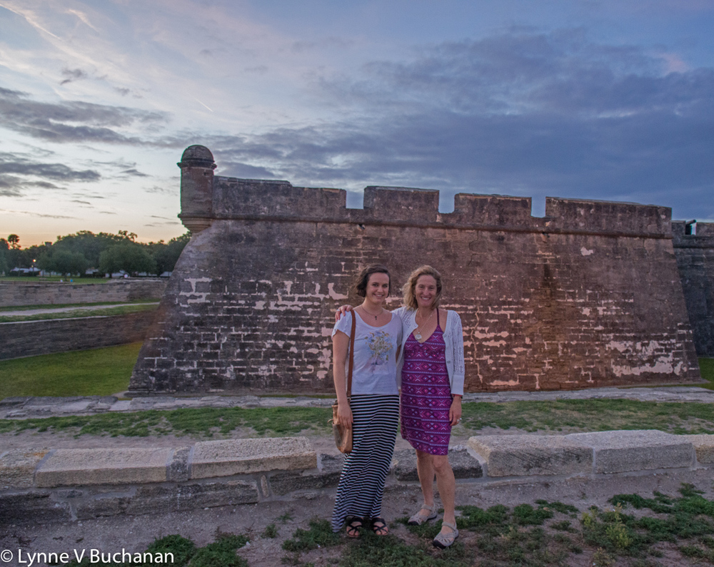 Carolyn and I at Castillo San Marcos