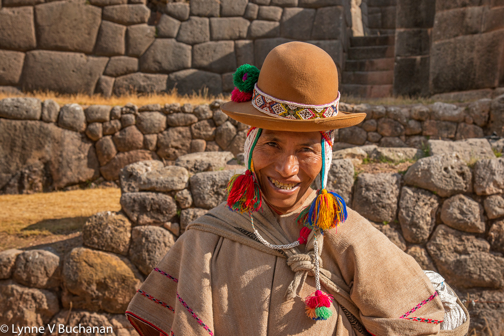 Incan Priest in Front of Tambo Macha