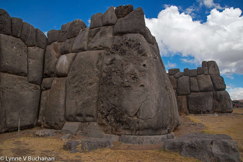 Sacsayhauman Monolith with Clouds