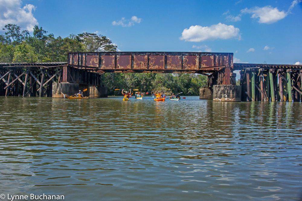 Coming Under the Train Bridge