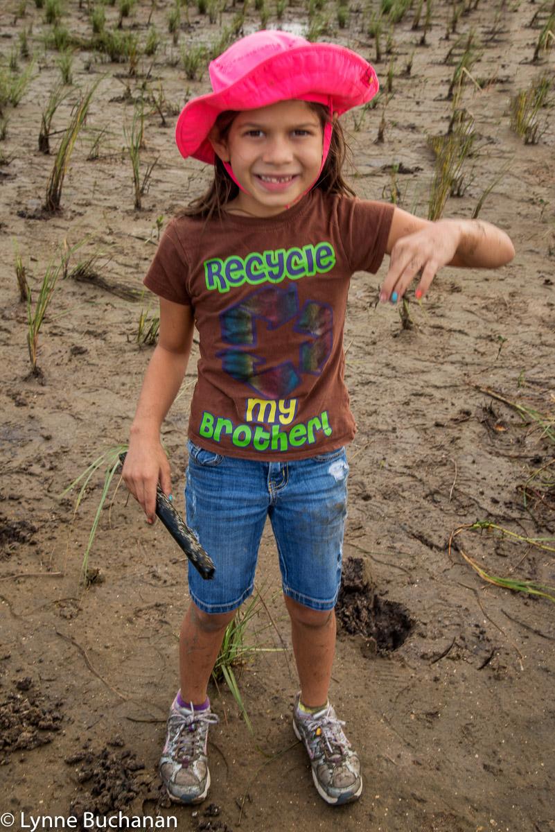 Jillian with a Crab