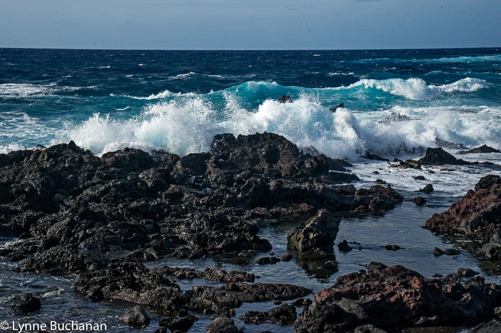 Waves Pounding the Rocks, Easter Island