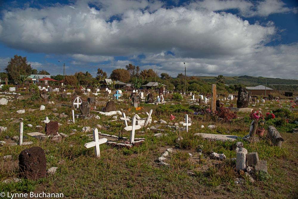 Cemetery in Hanga Roa
