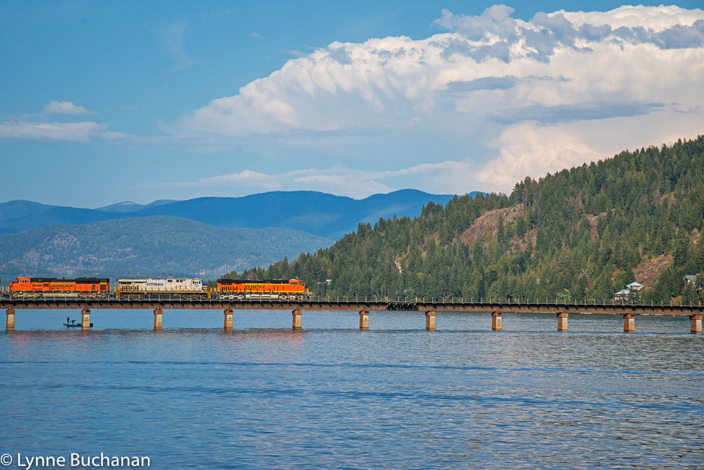 Train Passing over Lake Pend Oreille