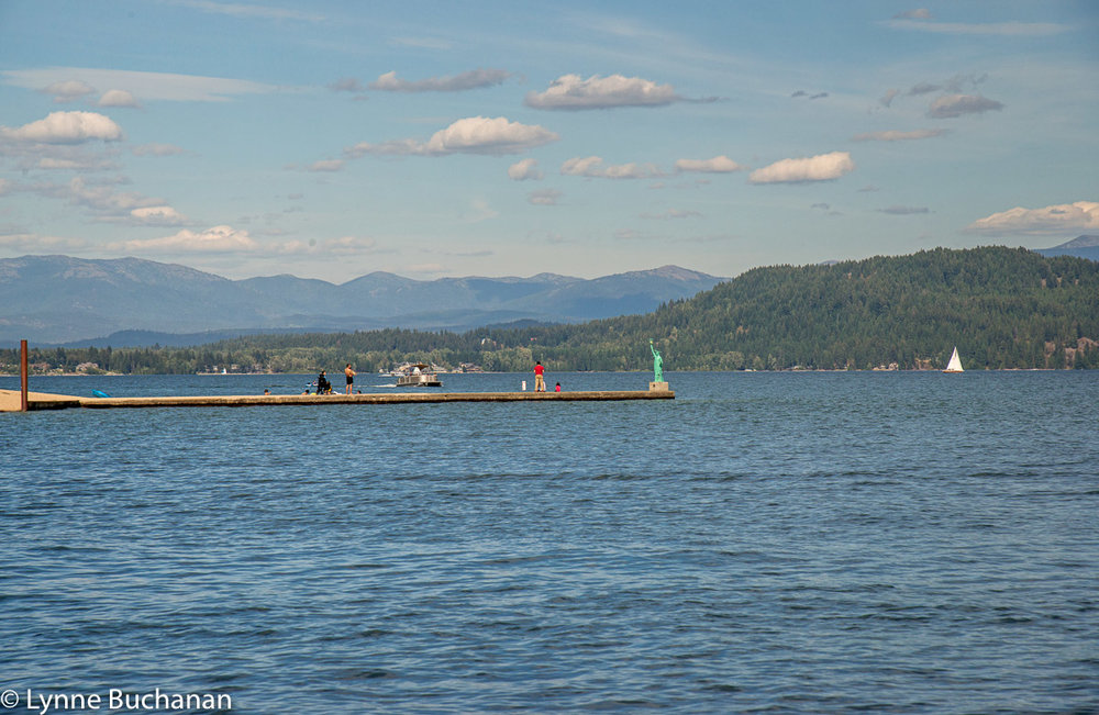 Lake Pend Oreille Statue of Liberty and the Right to Recreate