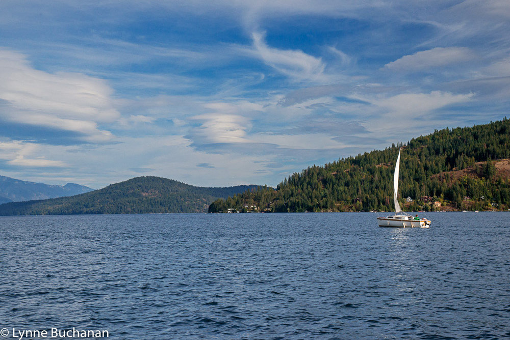 Sailing on Lake Pend Oreille