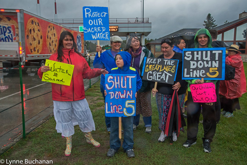 Shut Down Line 5 Rally, Protectors in the Rain