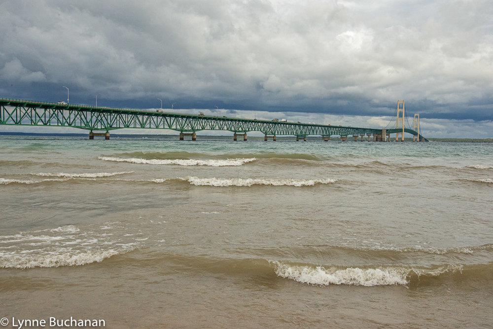 Breaking Waves, Mackinac Bridge