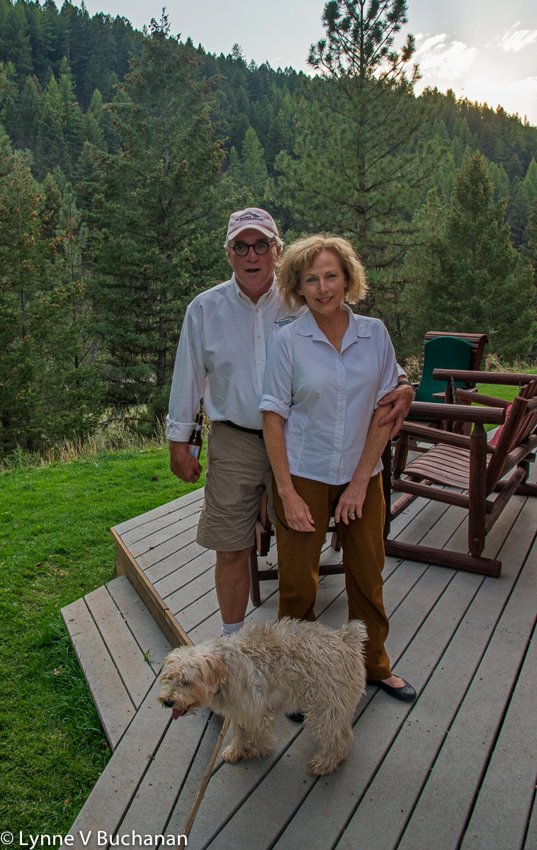 Jerry and his Wife Deborah and One of their Dogs