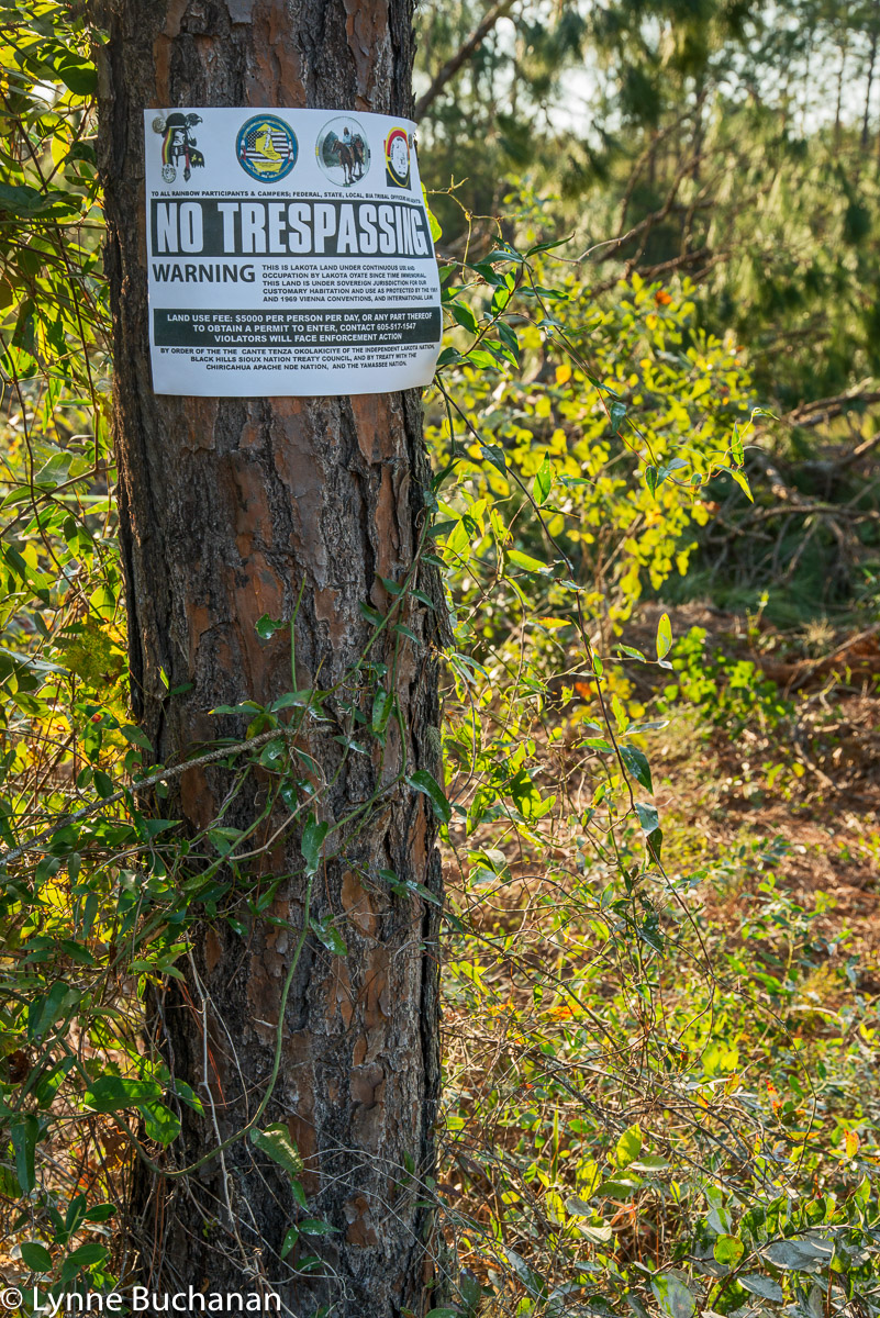 Lakota No Trespassing Sign