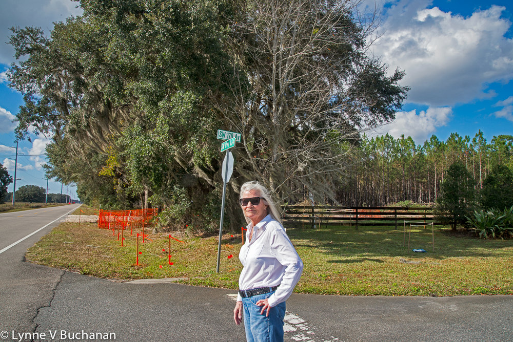 Connie in the Driveway of a Planned Development that Now Abuts the Pipeline