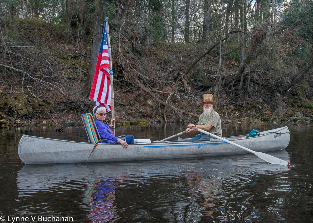Patriotic Suwannee River Paddlers