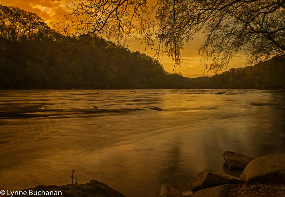Last Light French Broad River