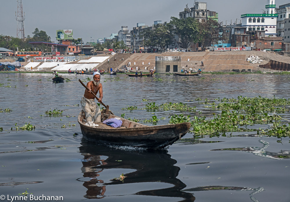 Buriganga Oarsman and Bustling Industry Near the Old Dhaka Landing