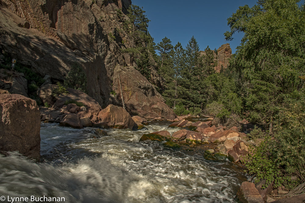 Boulder Creek Churning through Eldorado Canyon